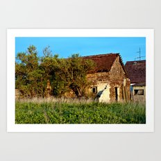 Abandoned Country Barn Art Print