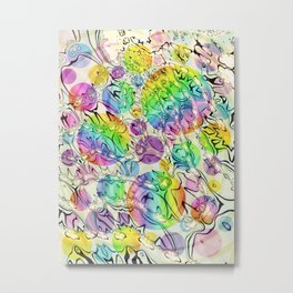 bursting bubbles are free Metal Print