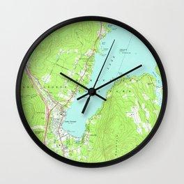Vintage Map of Lake George New York (1966) 2 Wall Clock