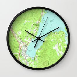 Vintage Map of Lake George New York (1966) 2 Wall Clock