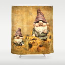 Gnomes in The Daisies Shower Curtain