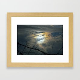 Sky Reflection on Icy Lake  Framed Art Print
