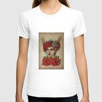 antler T-shirts featuring Antler Girl by Tarren Malham