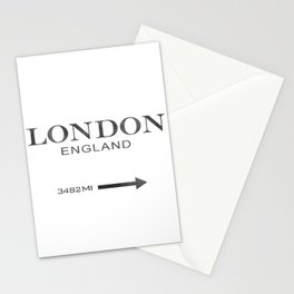 watercolor London England Stationery Cards
