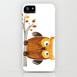 Autumn owl iPhone Case
