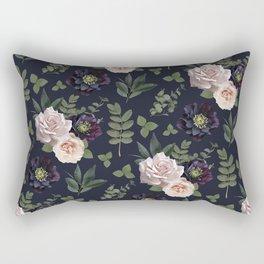 Pressed Floral Plum Rectangular Pillow