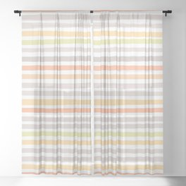 COLORS & STRIPES Sheer Curtain