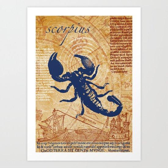 scorpius   skorpion Art Print