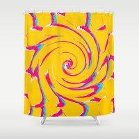 artsy Shower Curtains featuring artsy by vidikay