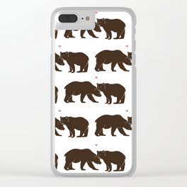 Missing you is Unbearable Clear iPhone Case