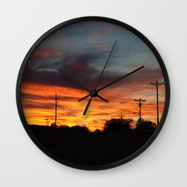 Country Sunset 2 Wall Clock