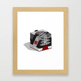 DC Cubic Lynx - Black/Grey Framed Art Print