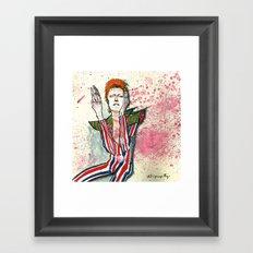 Schiele's Bowie Framed Art Print