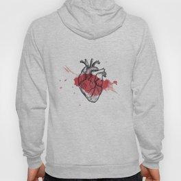 Anatomical heart - Art is Heart  Hoody