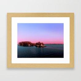 Sunset Over The Island Framed Art Print