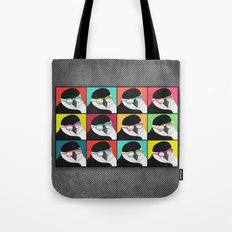 Chinstrap Penguins Pop Art vertical digital paper collage Tote Bag