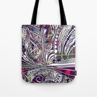 champagne Tote Bags featuring Champagne by Dan Ellwood