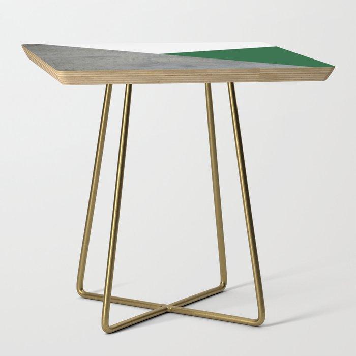 Concrete Festive Green White Side Table