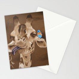 Giraffe with Bird Stationery Cards