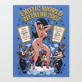 """""""Miss Exotic World 2007"""" by Mitch O'Connell  Canvas Print"""