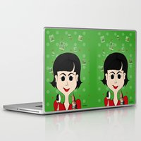 amelie Laptop & iPad Skins featuring Amelie Poulain by Camila Oliveira