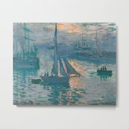 Sunrise Marine by Claude Monet, 1873 Metal Print