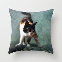 street fighter Throw Pillows featuring street fighter by lucyliu