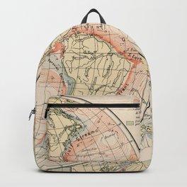 Vintage World Ocean Currents Map (1905) Backpack