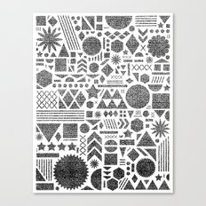 Modern Elements with Black. Canvas Print