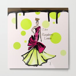 I love Raperry Lemon Metal Print