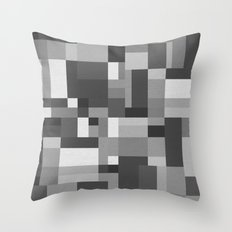 Map Tex Black and White Throw Pillow