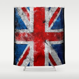 Great Britain grunge flag Shower Curtain