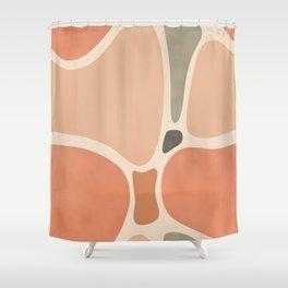 Terracotta Shapes #society6 #abstractart Shower Curtain