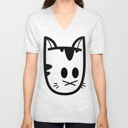 Big Ol' Cat Logo: Classique! Unisex V-Neck
