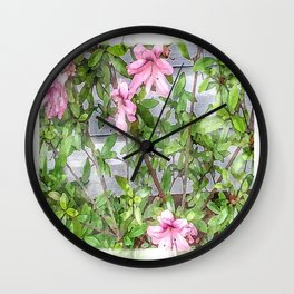 The Beauty of Azaleas Wall Clock