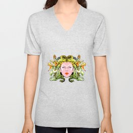 Medusa The Gorgon Unisex V-Neck