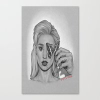 iggy Canvas Prints featuring IGGY by Michael Villalobos