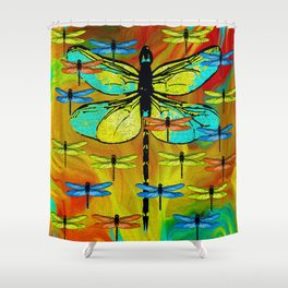 DRAGONFLY FORMATION Shower Curtain