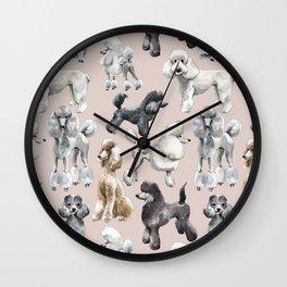 Poodles Wall Clock