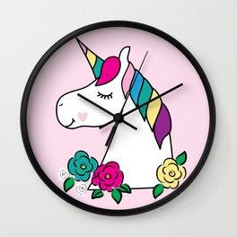 Rainbow Unicorn Art for Girls Room Decor Wall Clock