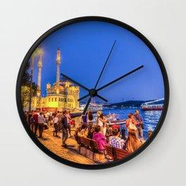 Istanbul At Night Wall Clock
