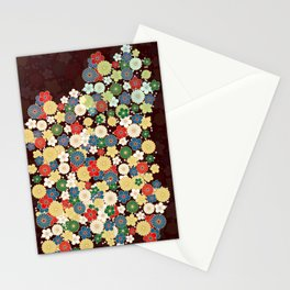"Japanese Traditional Pattern Chrysanthemum ""kiku"" Stationery Cards"