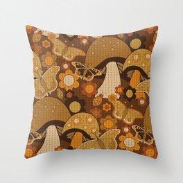 Mushroom Stitch Throw Pillow