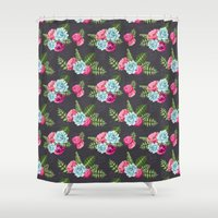 flower pattern Shower Curtains featuring Flower Pattern by eARTh
