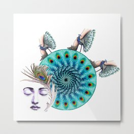 Follower Of Peacock Fashion Metal Print