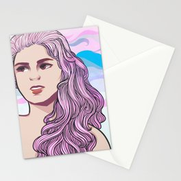 Pastel Wave Stationery Cards