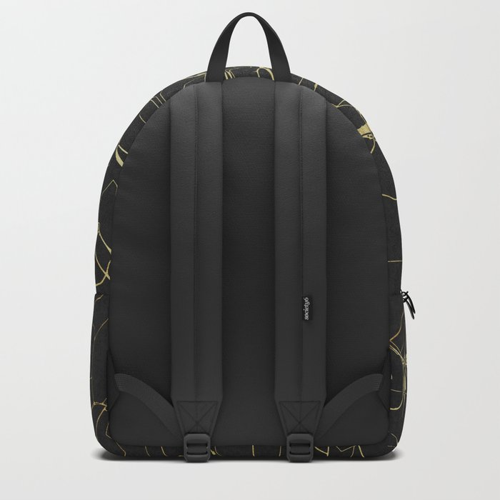 Prague Black and Gold Map Backpack