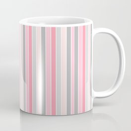 Classic Pink and Gray Stripes Coffee Mug