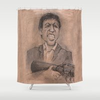 montana Shower Curtains featuring Montana by chadizms