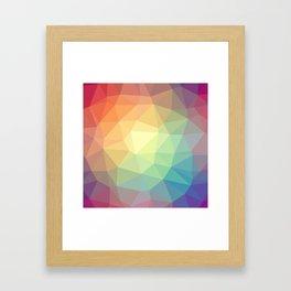 LOWPOLY RAINBOW Framed Art Print